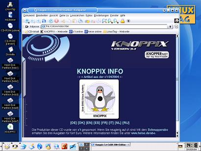 Booting Knoppix